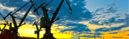 kranen-zonsondergang